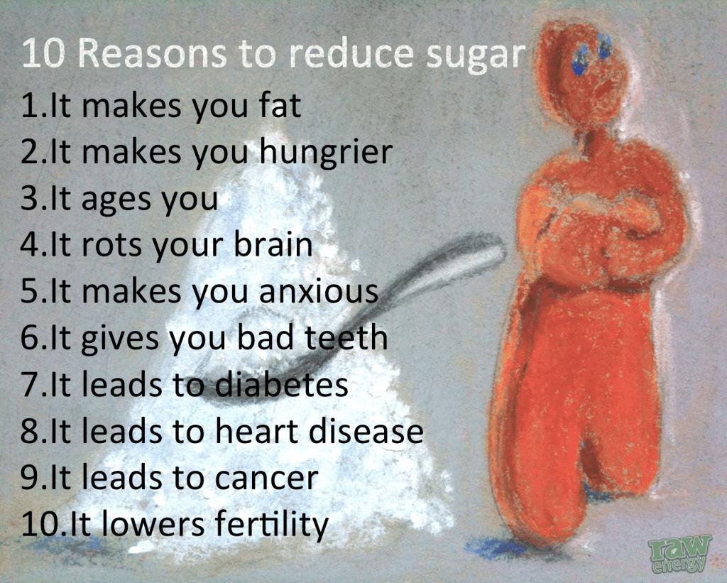 10 Reasons to reduce sugar