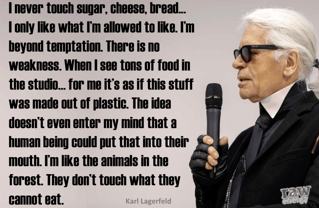 What Karl Lagerfeld Eats