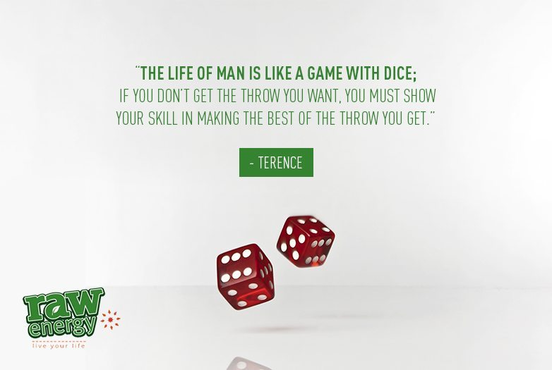 Red casino dice Success without stress