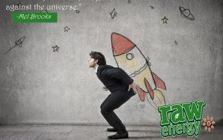 Man suit rocket success without stress
