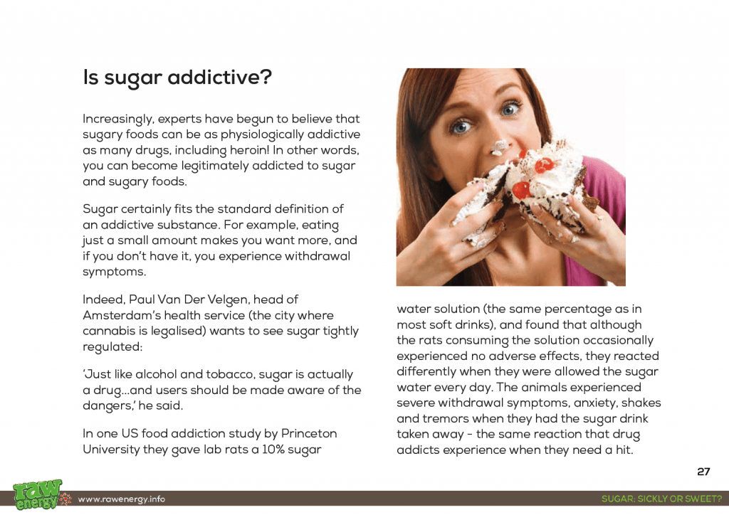 How sugar is more addictive than cocaine! Where to find sugar in foods.... and it's often not where you think! The different types and names of sugar... and the most dangerous of all types that should be avoided at all costs 14 straightforward ways that you too can kick the sugar habit forever
