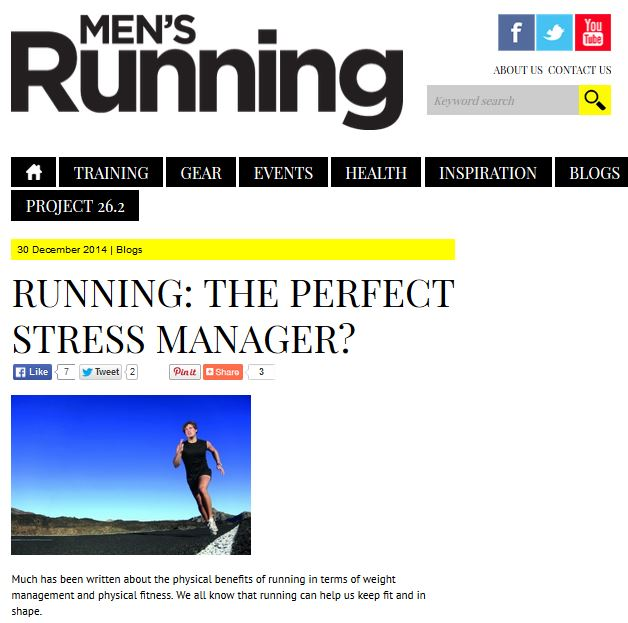 magazine article men running