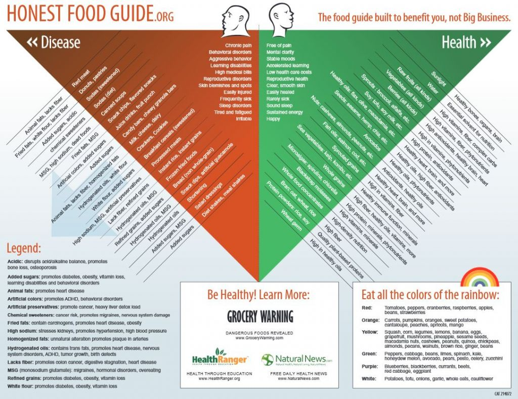 honest food guide triangle