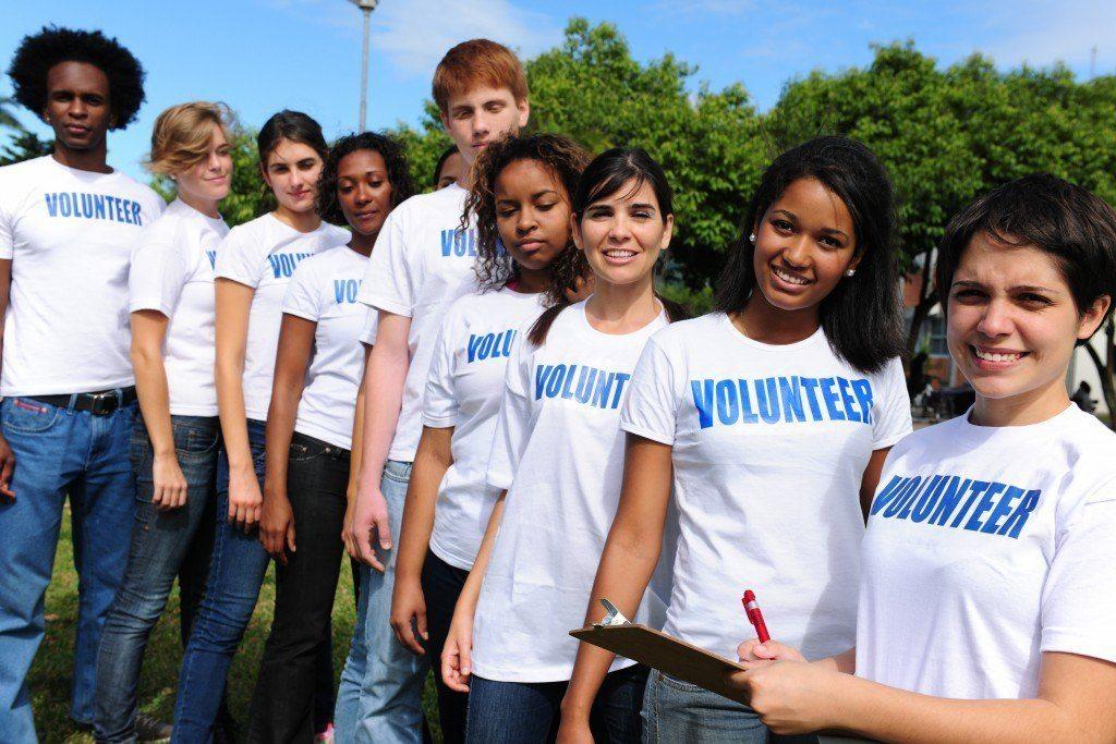 volunteer group register for charity event