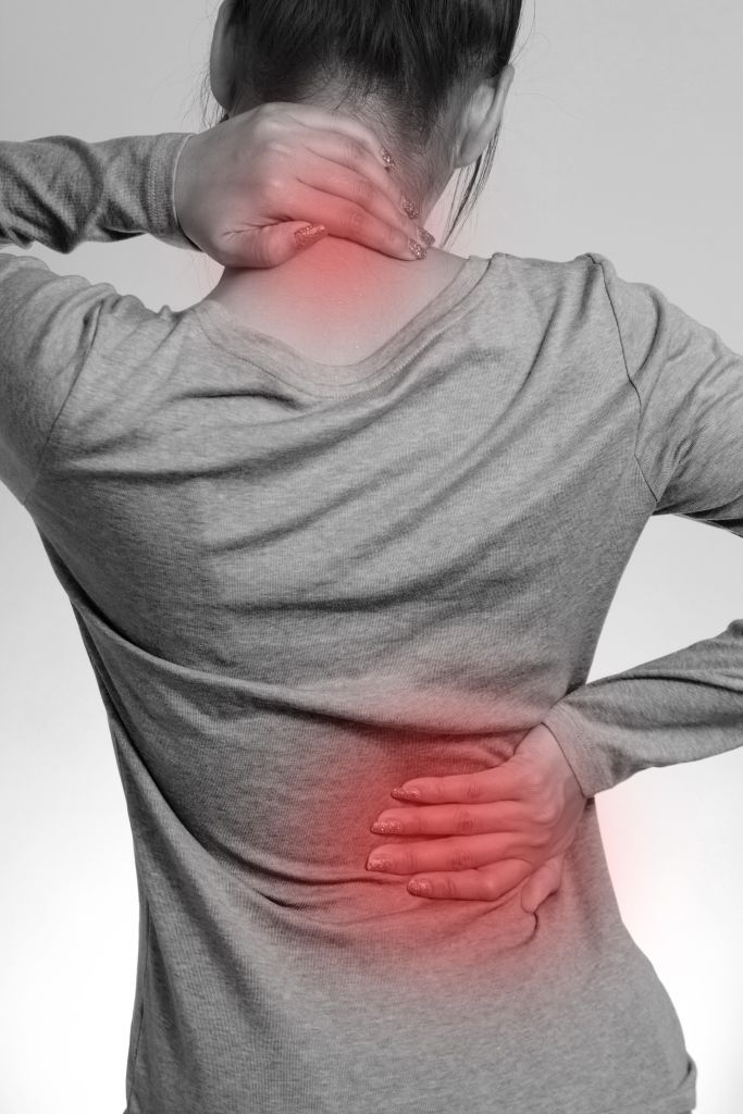 back pain stress woman