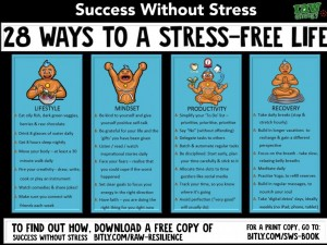 28 ways to a stress free life raw energy