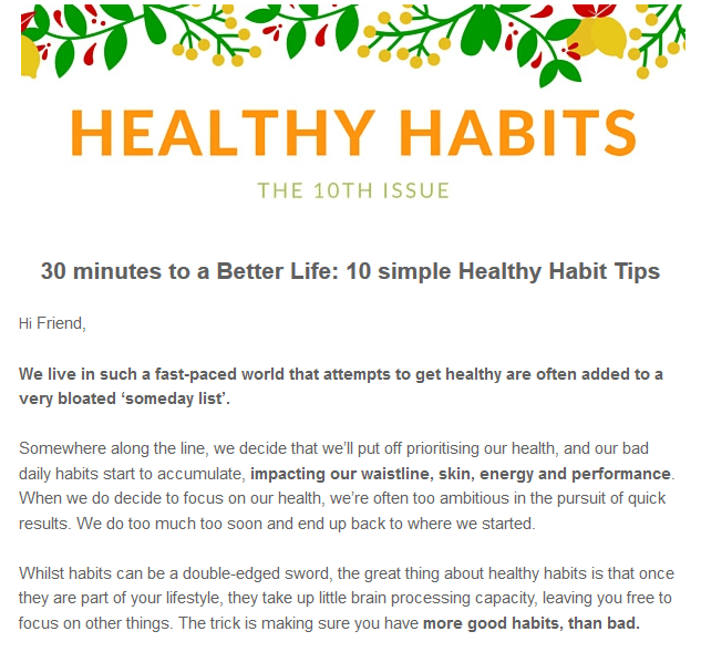 Healthy Habits Issue 10