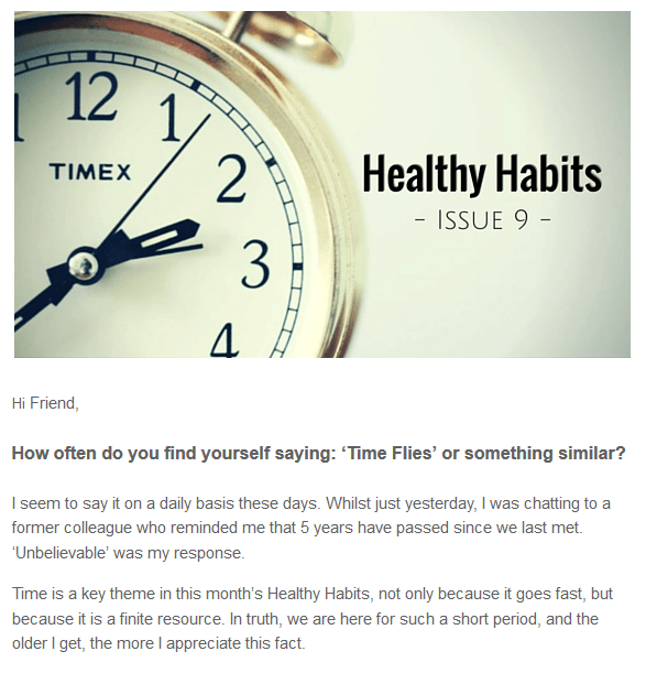 Healthy Habits Issue 9