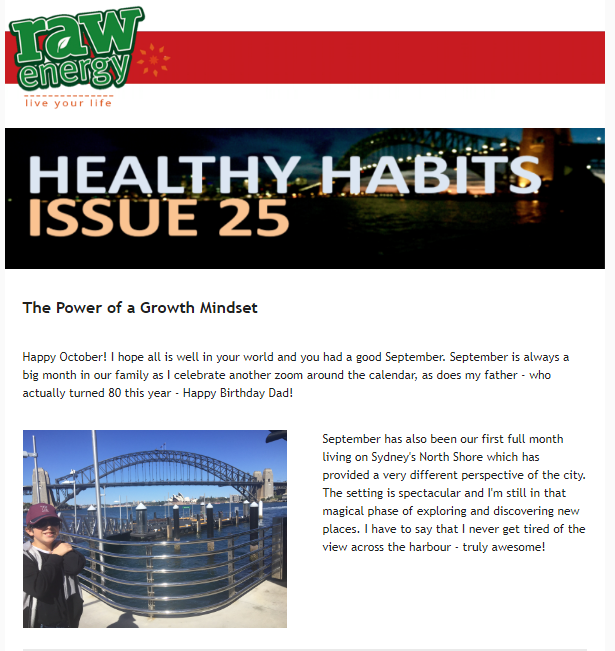 Healthy Habits Issue 25