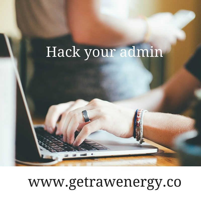 hack your admin raw energy
