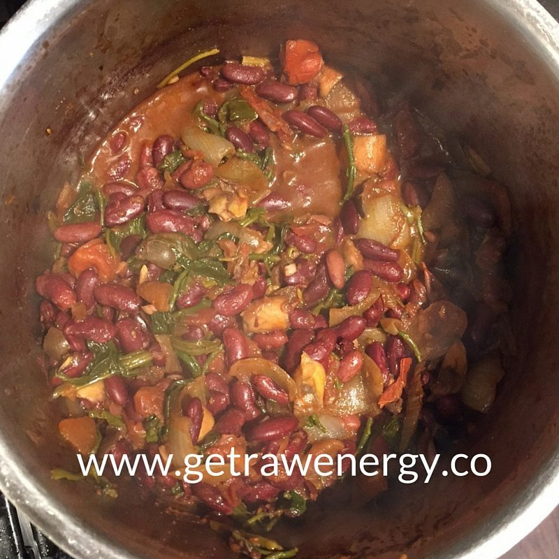 Kidney Beans and Mushroom Casserole  – A hearty winter recipe