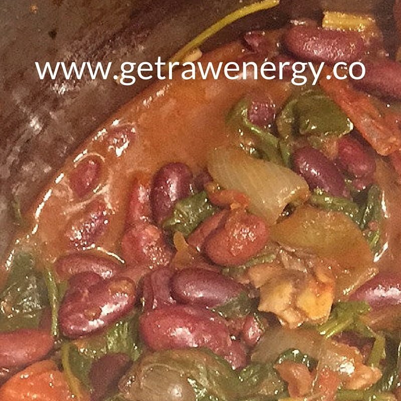 raw energy kidney bean recipe