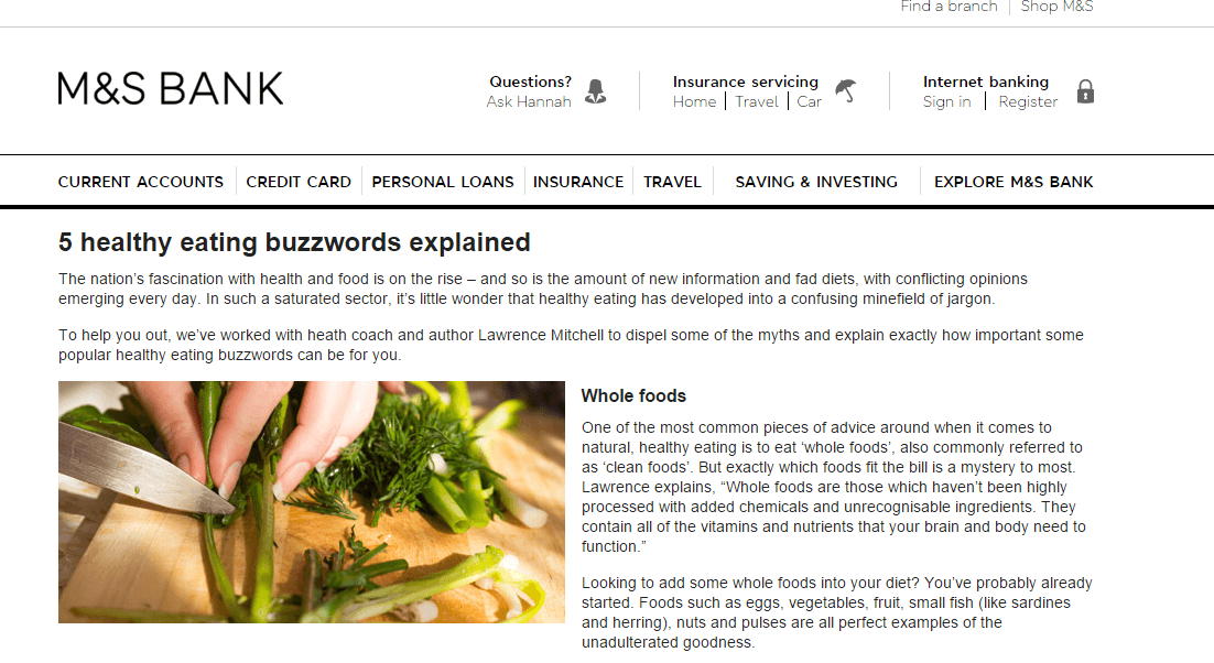 marks and spencer bank health buzzwords lawrence mitchell