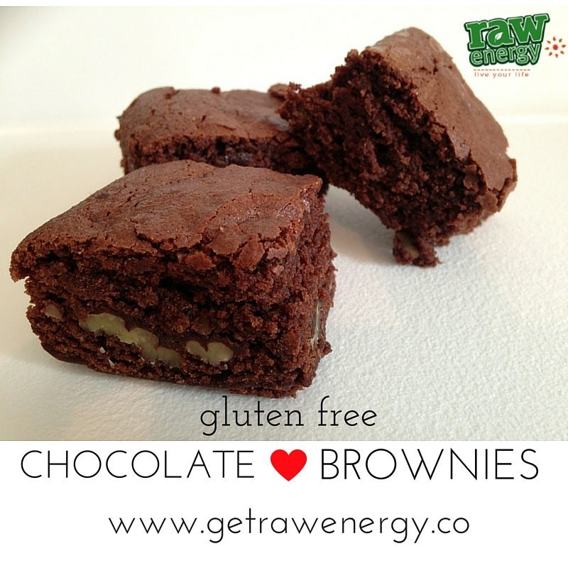gluten free chocolate brownies recipe get raw energy