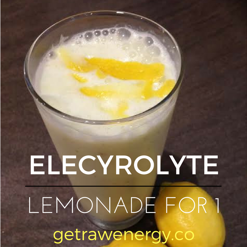 Electrolyte lemonade recipe for faster post exercise recovery
