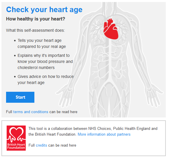 heart health calculator raw energy