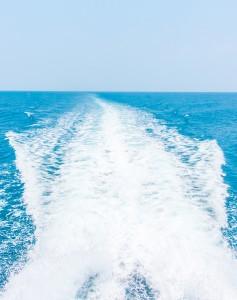Sea wake of a ship