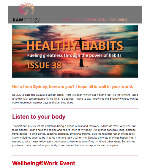 Healthy Habits Issue 38