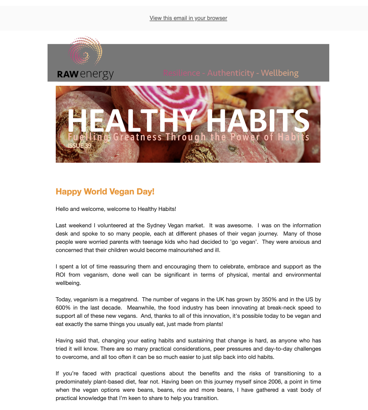 Healthy Habits Issue 39